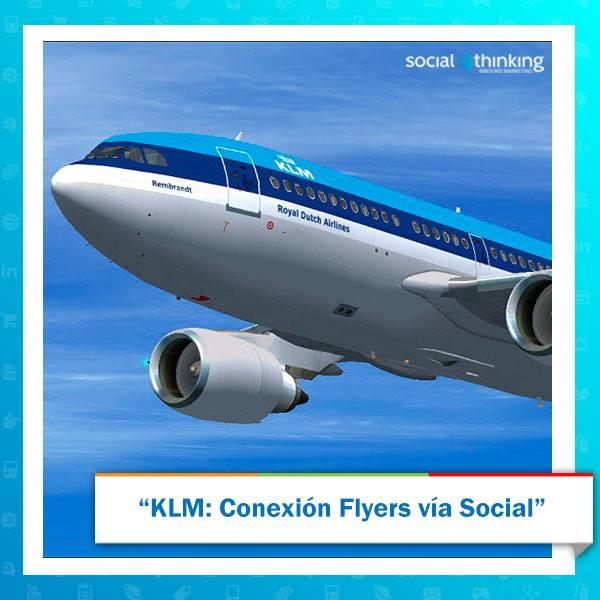 KLM:Conexión Flyers vía Social