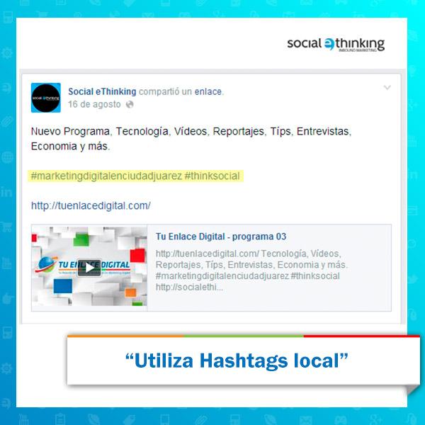 Encontrar Hashtags locales
