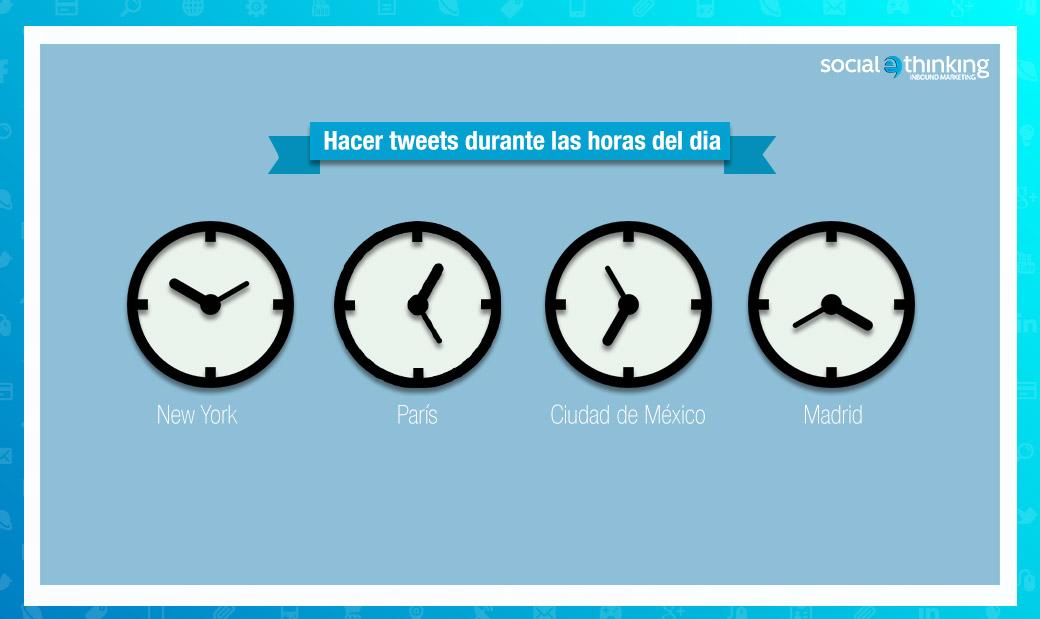 hacer tweets durante hrs del dia