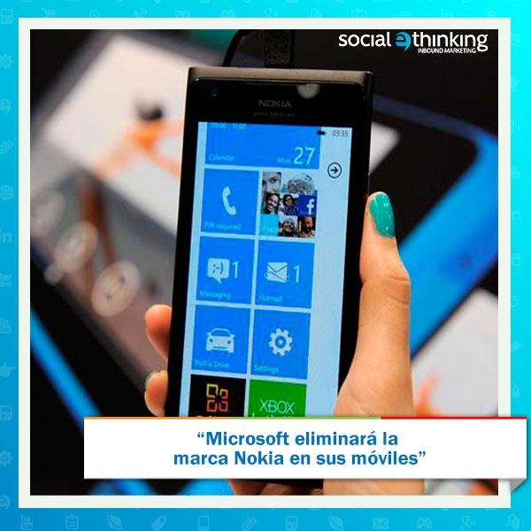 Microsoft eliminará Nokia en sus móviles
